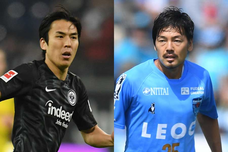 フランクフルトのMF長谷部誠(左)、横浜FCのMF松井大輔(右)【写真:Getty Images】