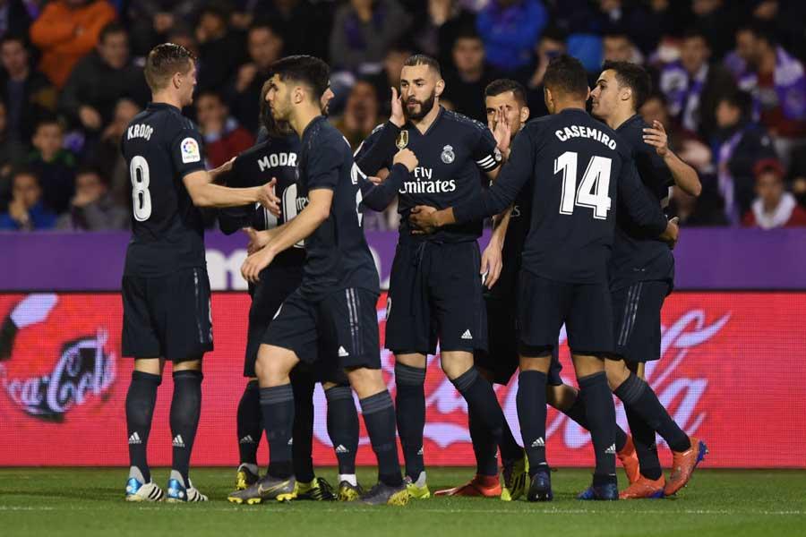 バジャドリード戦で4-1と大勝を飾ったレアルだが、試合前のチーム状況は決して芳しくなかったようだ【写真:Getty Images】