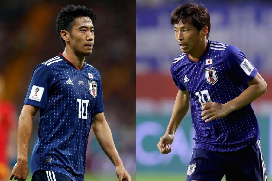 (左から)MF香川、MF乾【写真:Getty Images】