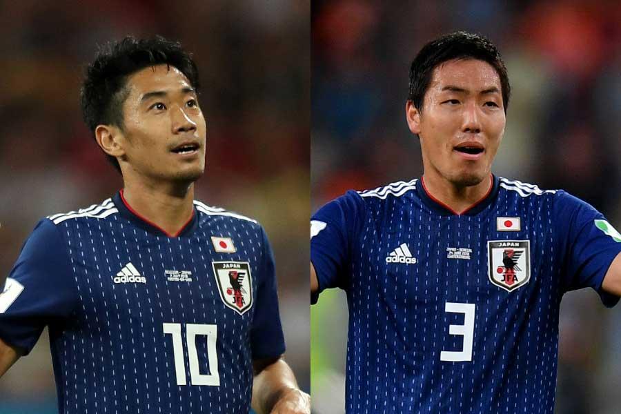 左から香川真司、昌子源【写真:Getty Images】