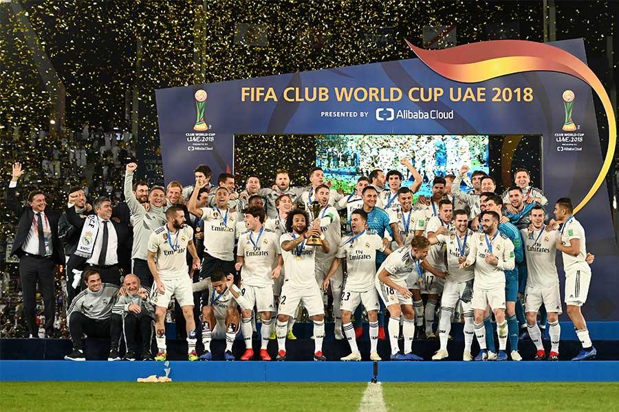 史上初のクラブW杯3連覇を達成したレアル【写真:Getty Images】