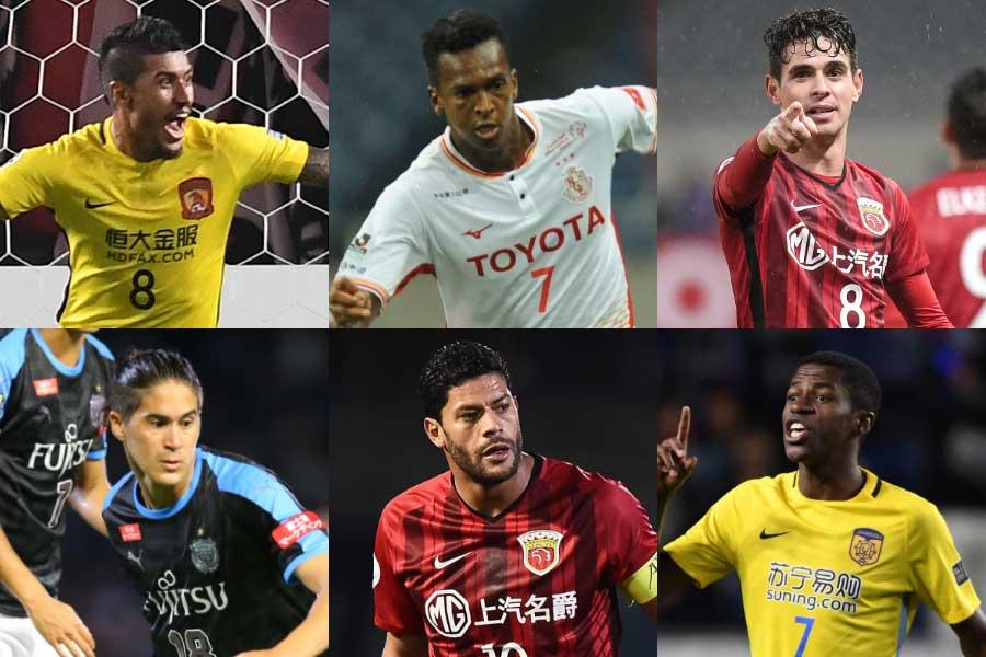アジアでプレーするブラジル人選手を母国メディアが選出【写真:Getty Images & 荒川祐史】
