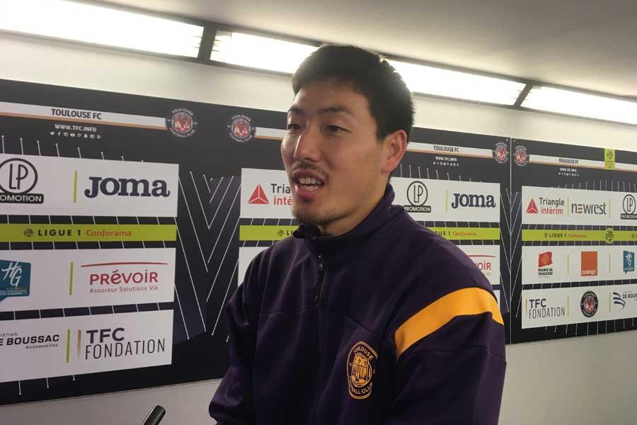 日本代表DF昌子は、フランス帰国後4日目に行われたPSG戦に先発フル出場を果たした【写真:小川由紀子】