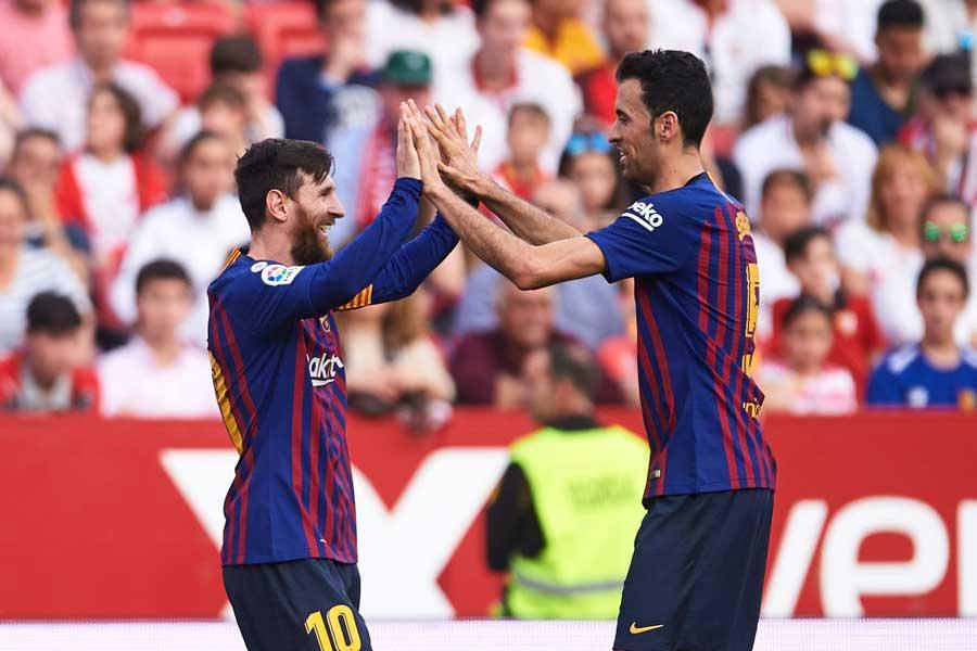 「唯一無二の選手」とメッシを称賛【写真:Getty Images】