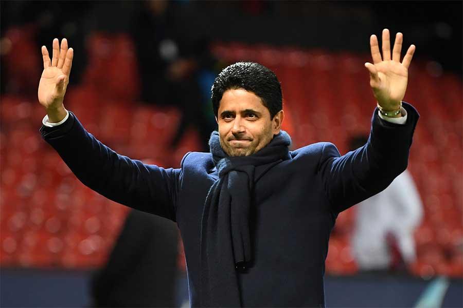 QSIの社長であり、PSGの会長も務めるナセル・アル・ケライフィ氏【写真:Getty Images】