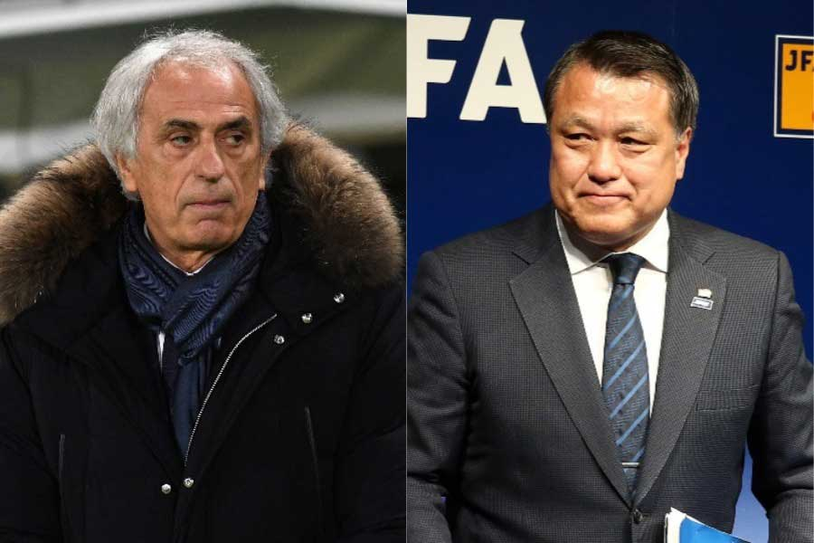 ハリル氏が訴訟を取り下げたことで、田嶋会長は解任理由について再び説明しなければならない状況になったと言えるだろう【写真:Getty Images】