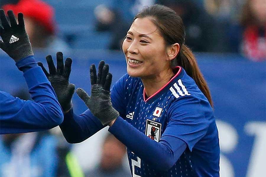 なでしこジャパンのMF宇津木瑠美【写真:Getty Images】