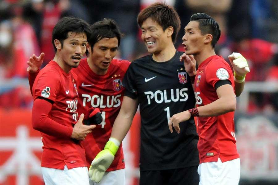 那須は2013年から浦和で5シーズン一緒にプレーした【写真:Getty Images】