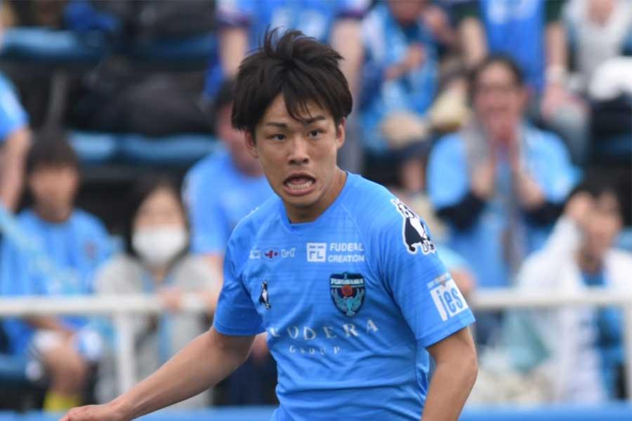 横浜FCのFW斉藤光毅【写真:Getty Images】