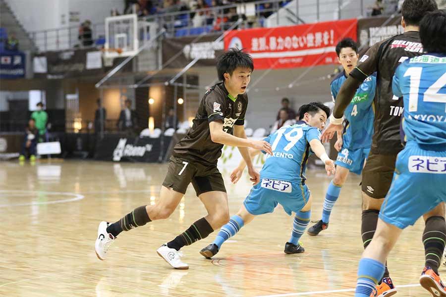 鹿島アントラーズユース出身のFP内田隼太【写真:河合拓/Futsal X】