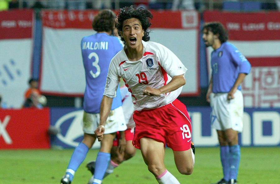 2002(16強)韓国 vs イタリア、韓国では「爽快な思い出」として語り継がれているようだ【写真:Getty Images】