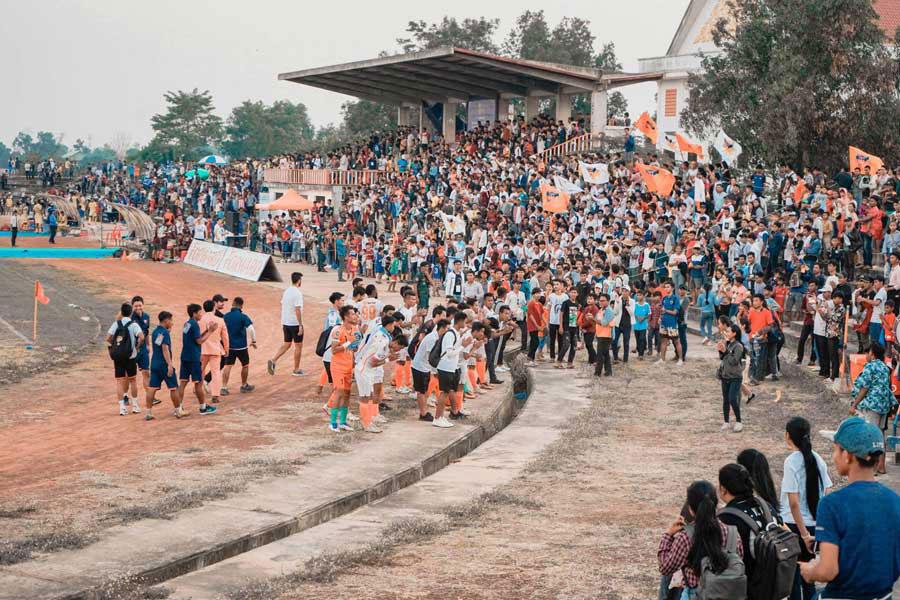 アンコールタイガーFCがカンボジアリーグ観客動員新記録を樹立した【写真提供:アンコールタイガーFC】