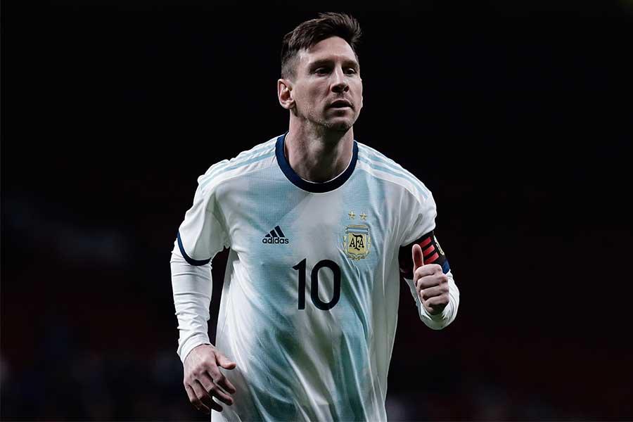 2005年からアルゼンチン代表でプレーするメッシ【写真:Getty Images】
