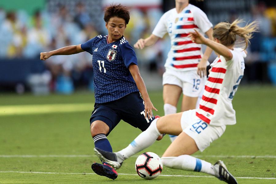 フランス女子W杯のメンバー選外となったFW田中美南【写真:Getty Images】