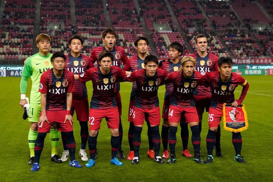 ホームに山東魯能を迎えた鹿島アントラーズは、0-1でハーフタイムを迎えた【写真:Getty Images】