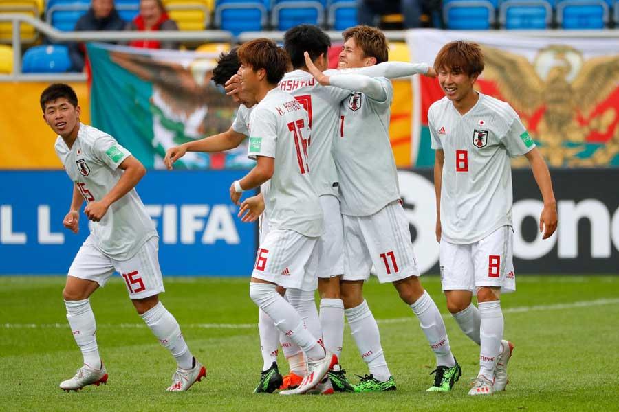 U-20日本代表の今大会初勝利にFIFAも称賛している【写真:Getty Images】