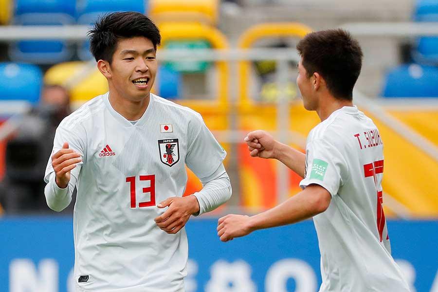 FW宮代大聖の2ゴールなどで3-0の快勝を収めたU-20日本代表【写真:Getty Images】