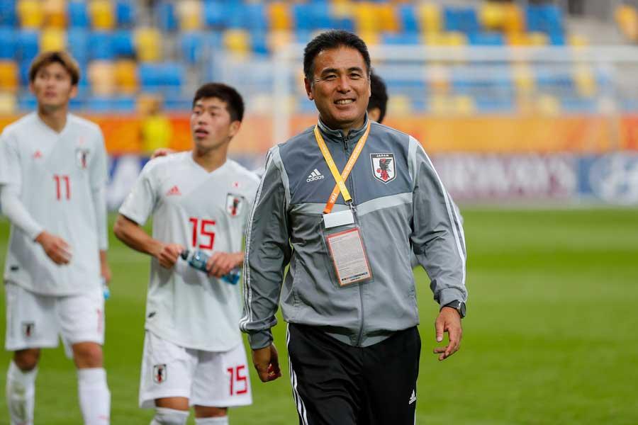 U-20日本代表の影山雅永監督【写真:Getty Images】