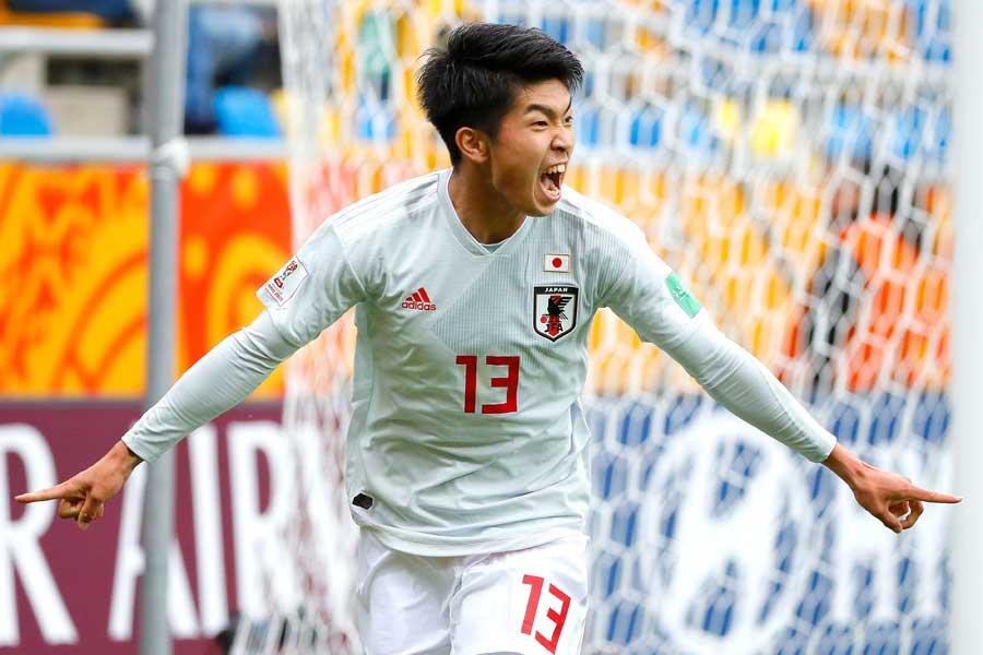 U-20日本代表は、FW宮代の2ゴールなどでメキシコ代表に勝利!【写真:Getty Images】