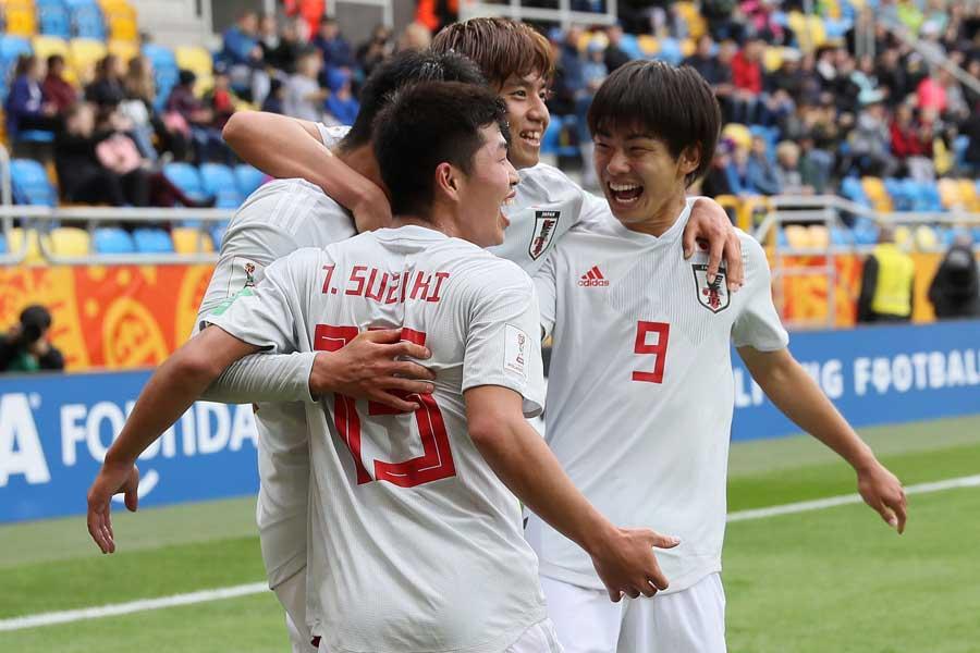 U-20W杯グループステージ突破に大きく前進した日本代表【写真:Getty Images】