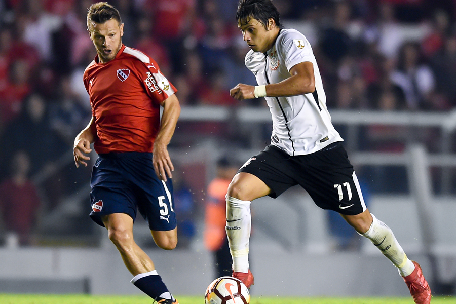 コリンチャンスでプレーするパラグアイ代表FWのロメロ【写真:Getty Images】