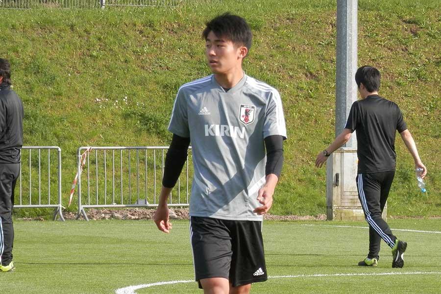 U-20日本代表のMF中村敬斗【写真:林遼平】