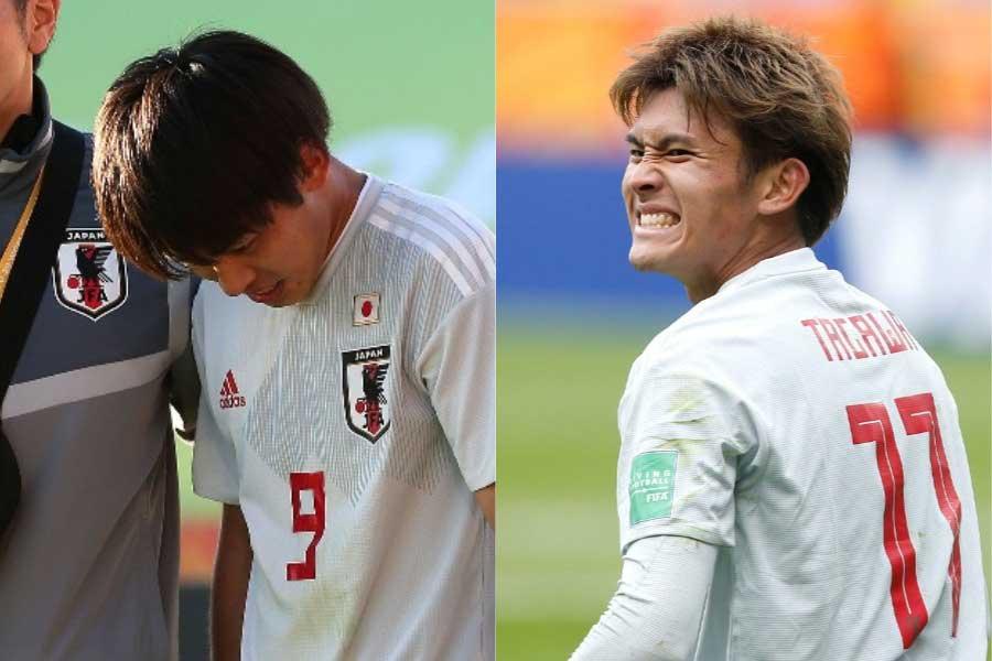 斉藤光毅と田川亨介が相次いで負傷、U-20日本代表に試練か【写真:Getty Images & AP】