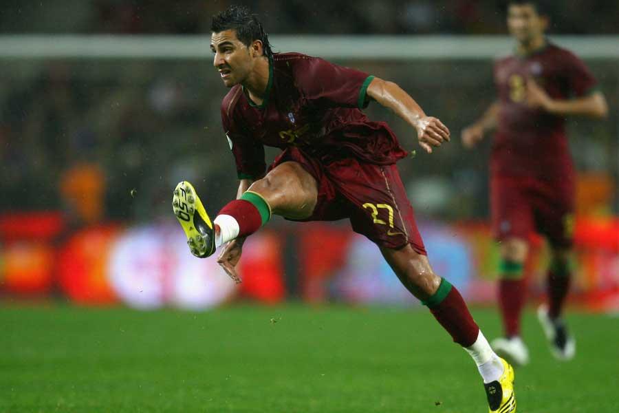 ポルトガル代表FWリカルド・クアレスマが2007年に決めたA代表初ゴール動画が反響【写真:Getty Images】