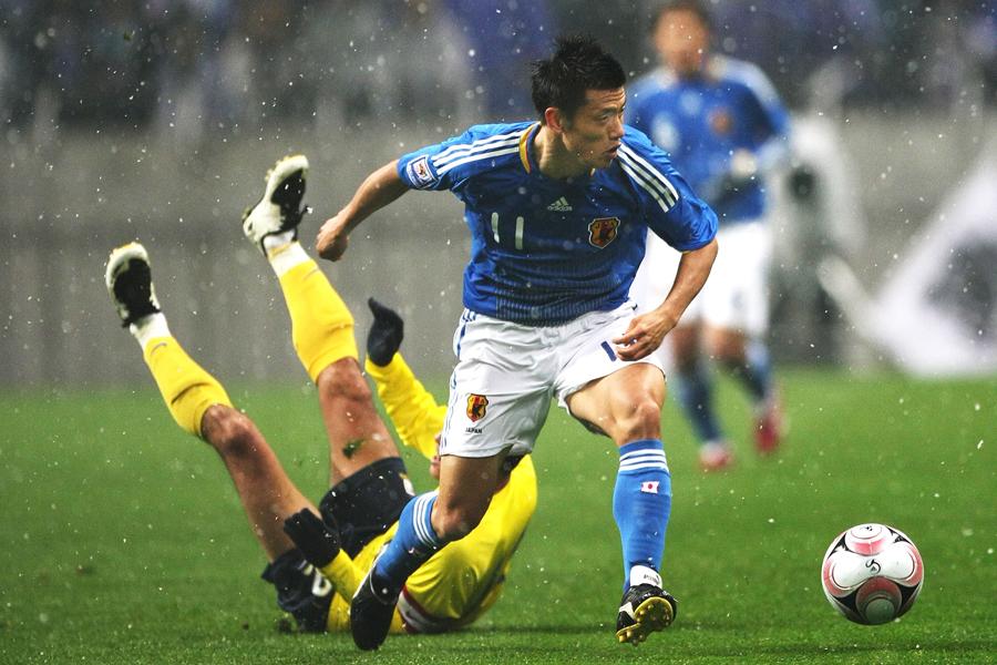 播戸は日本代表通算7試合に出場し、2ゴールを記録した【写真:Getty Images】