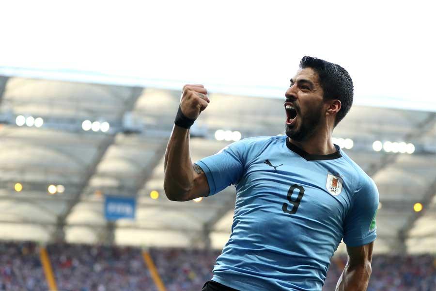ウルグアイがスアレスの決勝ゴールでサウジアラビアを下した【写真:Getty Images】