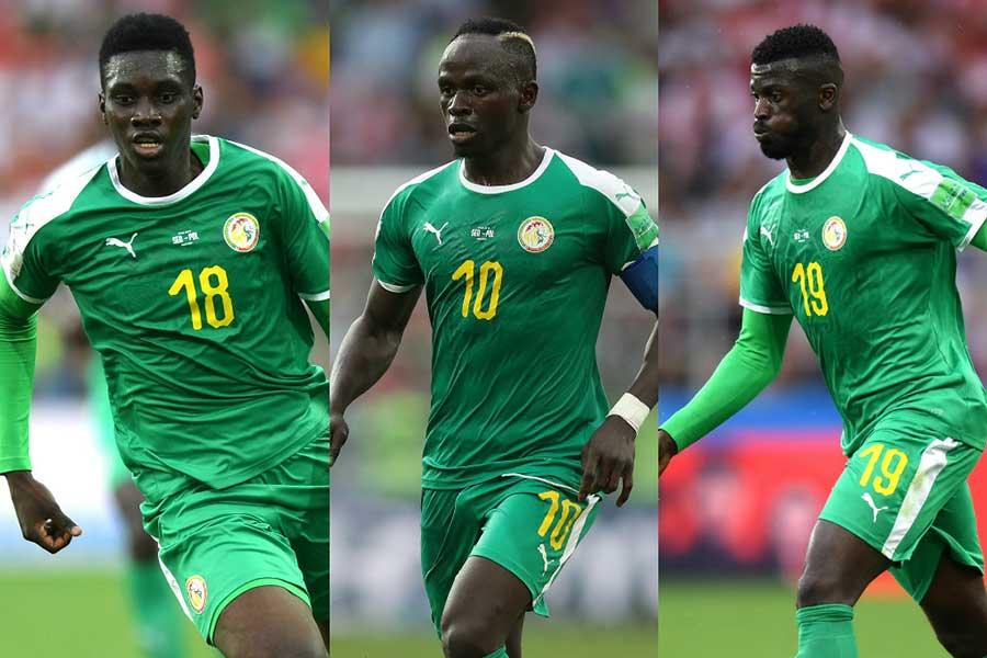 セネガルの攻撃を支える(左から)サール、マネ、ニアング【写真:Getty Images】