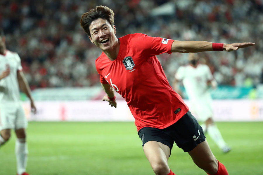 韓国代表FWファン・ウィジョが2連続ゴールを決めた【写真:Getty Images】