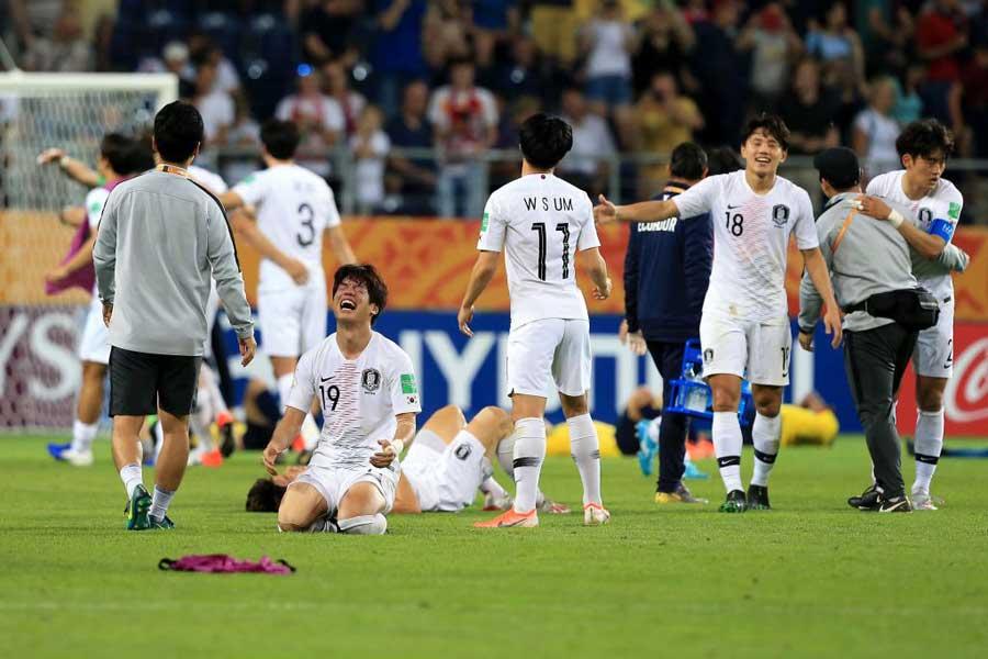 U-20W杯史上初となる決勝進出を果たした韓国代表【写真:Getty Images】