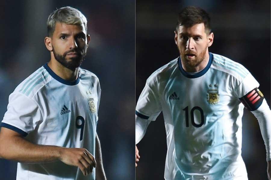 アルゼンチン代表FWアグエロ、FWメッシ【写真:Getty Images】