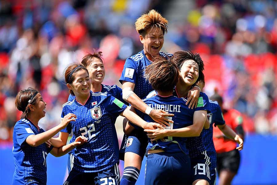 なでしこジャパンが今大会初勝利を手にした【写真:Getty Images】
