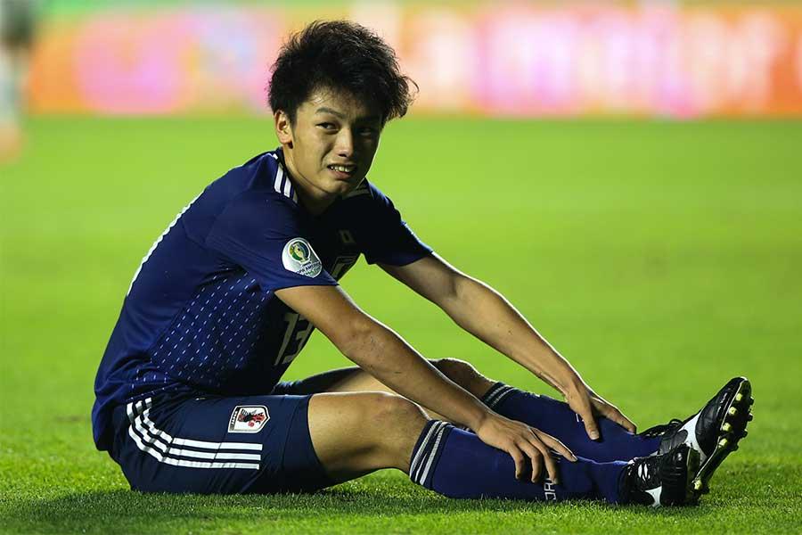上田にとってはほろ苦いデビュー戦となった【写真:Getty Images】