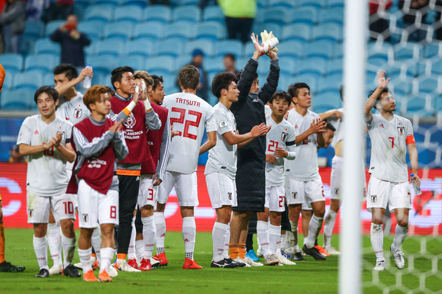 強敵ウルグアイを相手に貴重な勝ち点1を手にした日本代表【写真:Getty Images】