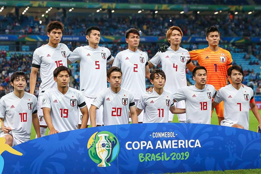 ウルグアイ戦で2-2と引き分けた日本代表【写真:Getty Images】