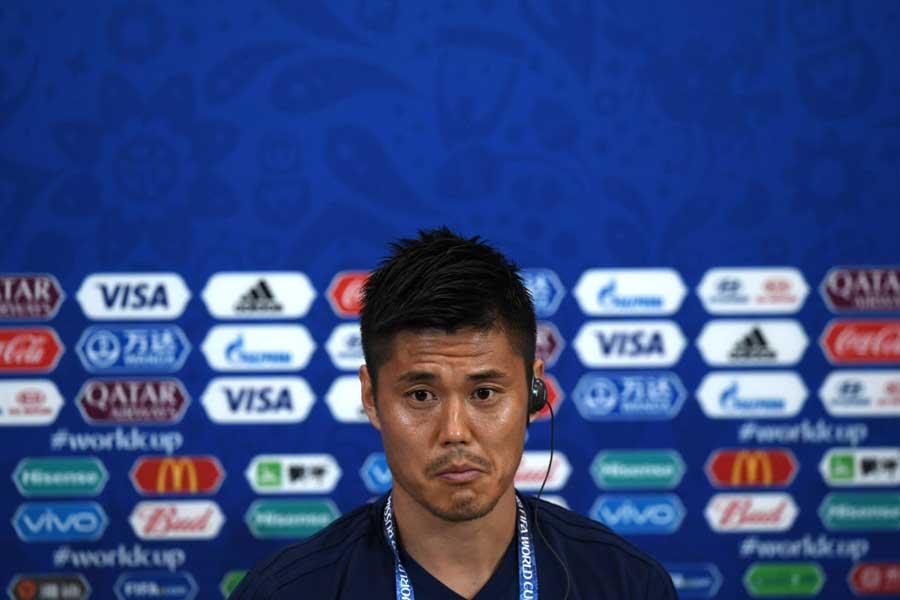 前日会見に出席したGK川島永嗣、海外メディアの質問に思わず苦笑い【写真:Getty Images】
