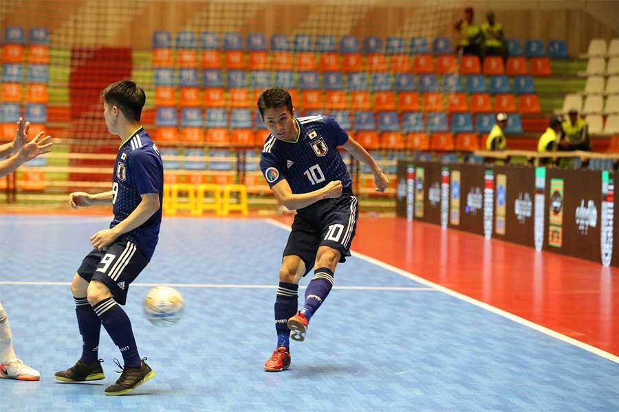 同点ゴールを決めたFP山田凱斗【写真:河合拓/Futsal X】