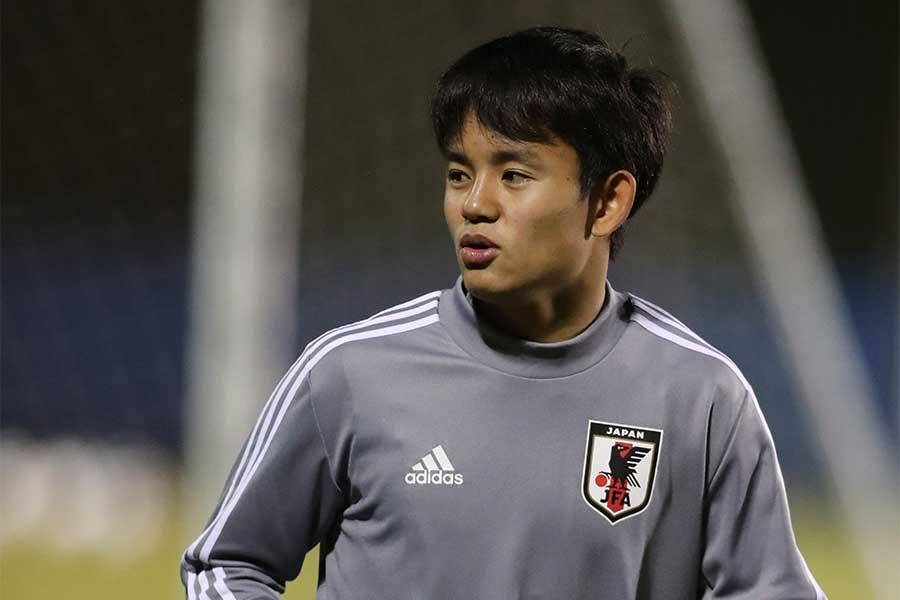 レマル・マドリードに加入した日本代表MF久保建英【写真:AP】