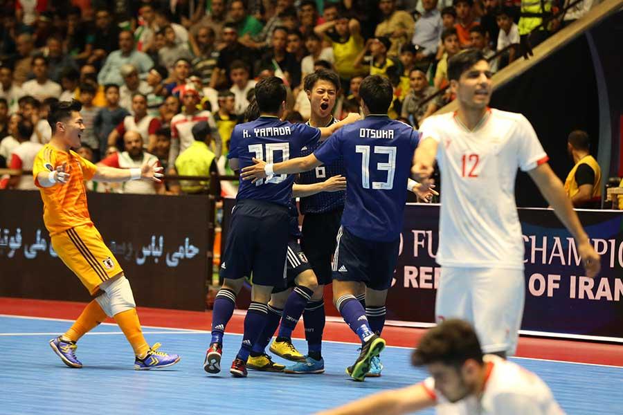 延長戦で王者イランを撃破したU-20フットサル日本代表【写真:河合拓/Futsal X】