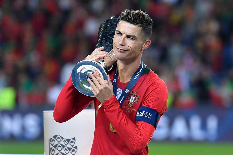 ネーションズリーグ初代王者に輝いたポルトガル代表のエースFWロナウド【写真:AP】
