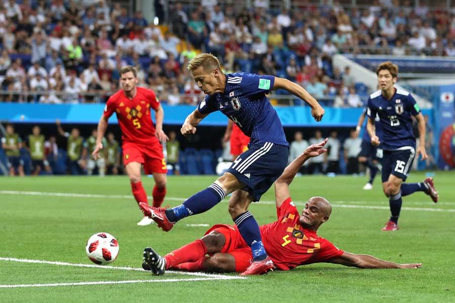 ベルギー相手の日本の奮闘に、FIFA公式ツイッターに敗退を惜しむ声が届いた【写真:Getty Images】