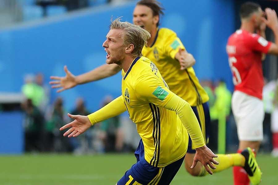 スウェーデンが24年ぶりの準々決勝進出を果たした【写真:Getty Images】