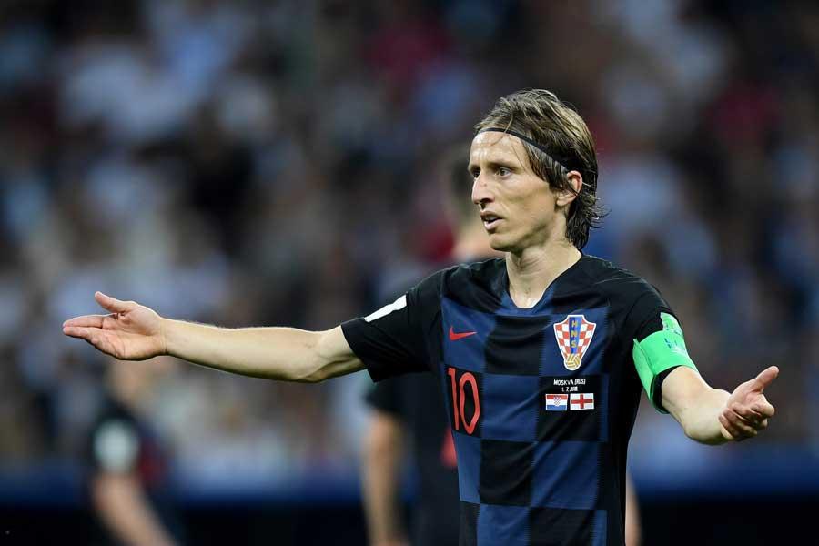 モドリッチがクロアチアを過小評価していた英メディアを批判した【写真:Getty Images】