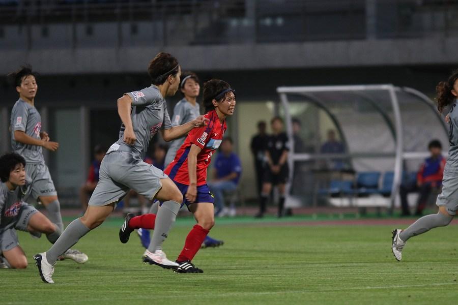 日テレ・ベレーザ戦が田中にとって、国内ラストゲームとなった【写真:Football ZONE web】