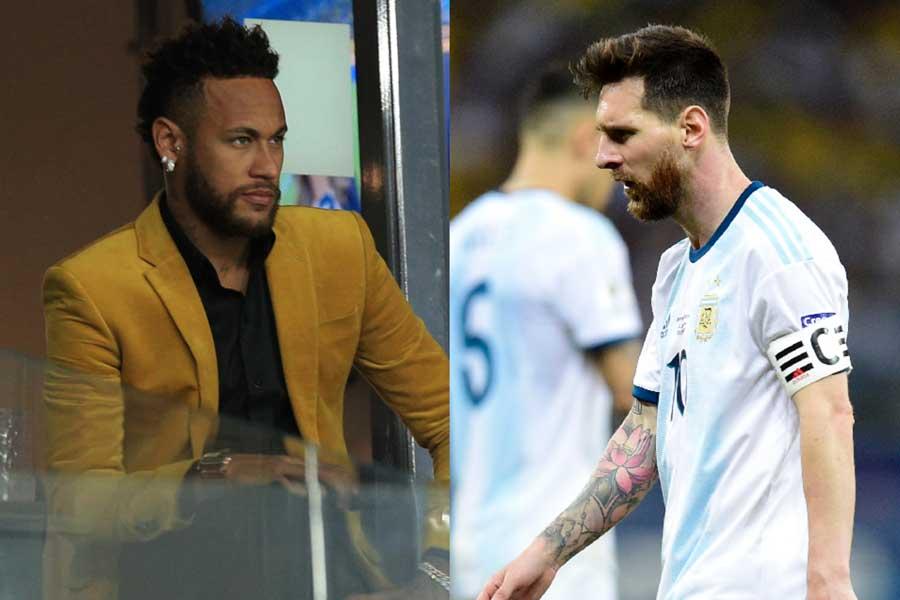 ブラジル代表FWネイマール、アルゼンチン代表FWメッシ【写真:Getty Images】