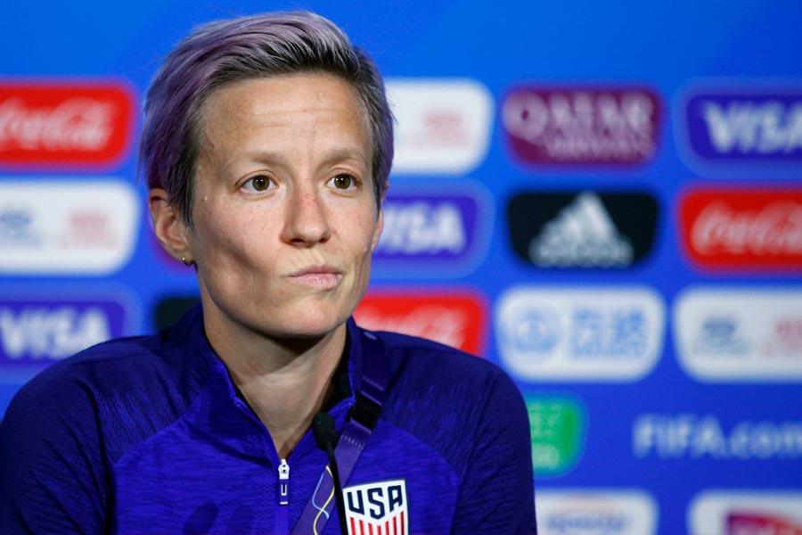 アメリカ女子代表キャプテンのMFラピノー【写真:AP】