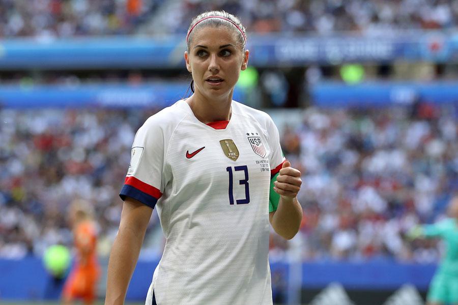 来年4月に出産予定となっているアメリカ女子代表のFWアレックス・モーガン【写真:Getty Images】